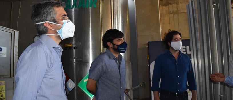 se instala red de oxígeno en hospital de campaña Puerta de Oro